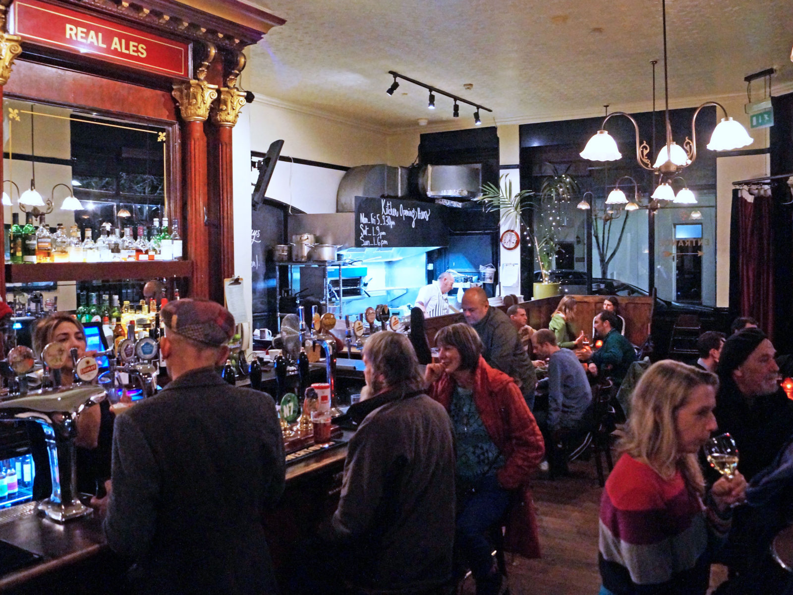 A busy evening at the Swimmer